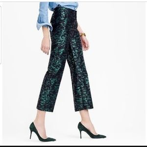 Jcrew  collection jaquard ankle pant